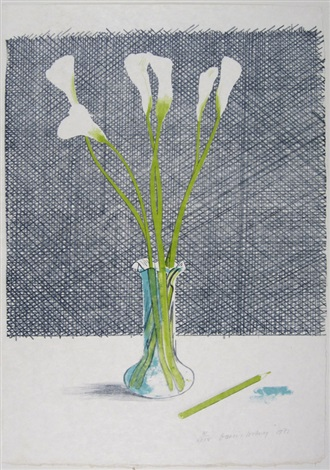 lillies from europäische graphik vii by david hockney