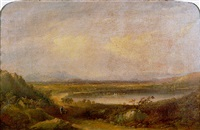 the lake of menteith looking east to inchmahome priory and the ochil hills beyond by henry g. duguid