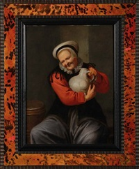 vieille femme tenant une cruche by david ryckaert iii