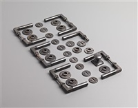 door handles w/lock plates (set of 6) by adolf meyer and walter gropius