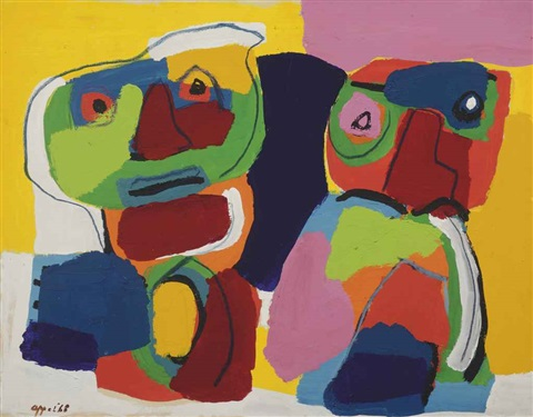 two children by karel appel