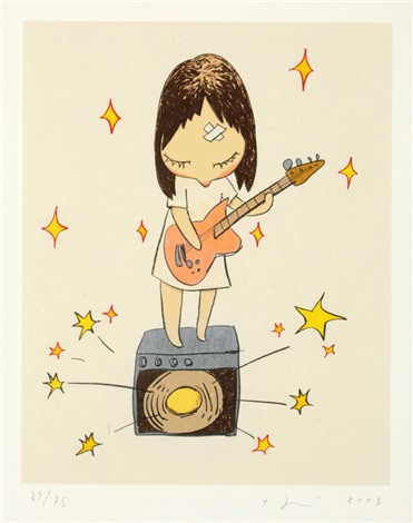 guitar girl by yoshitomo nara