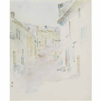 village street, antibes by theodore robinson