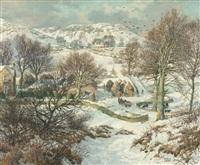 winter near lundie, angus by james mcintosh patrick