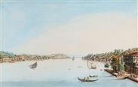 vue de l'embouchure de la mer noire et du détroit des dardanelles by antoine ignace melling