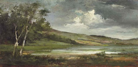 les rives de la mosson by gustave courbet
