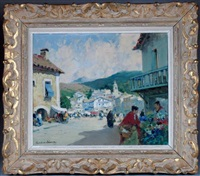 village dans le pays basque by paul emile lecomte