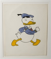 character study of donald duck by cy twombly