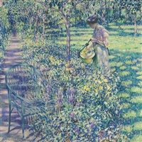 an improvised flower basket by louis ritman