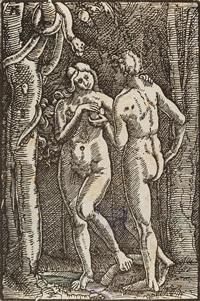 der sündenfall - joachims opfer wird zurückgewiesen (2 works from sündenfall und erlösung des menschengeschlechts) by albrecht altdorfer