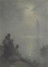 moonlight scene by edward henry potthast