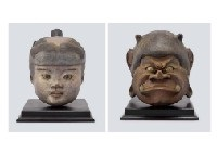 momotaro and demon (set of 2) by satoshi yabuuchi