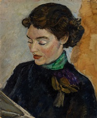 portrait of molly o'dea by albert lee tucker