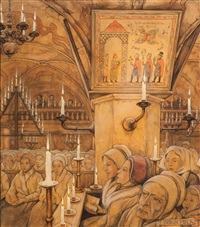 swedish church by anton pieck