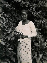 sinhalese girl by charles t. scowen (scowen & co.)