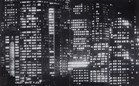 untitled (manhattan at night) (2 works) by andreas feininger