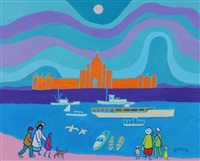 victoria harbourside by ted harrison