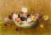 still life of pansies by constance walton