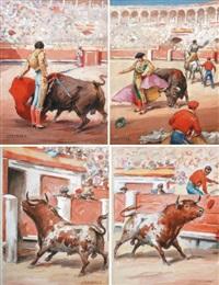 tauromachie (4 works) by santos saavedra