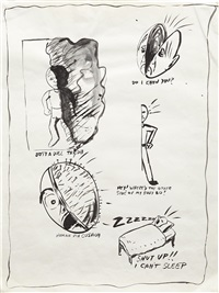 untitled (from the sublime (study for headache napkin) #2) by mike kelley