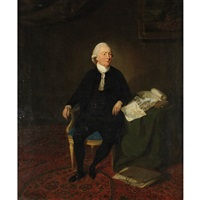 portrait of a draftsman by johann joseph zoffany
