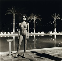 pool old beach hotel monte carlo by helmut newton
