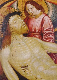 an angel supporting the dead christ by french school-avignon (16)