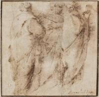 drei in einer gruppe stehende männer by domenico beccafumi