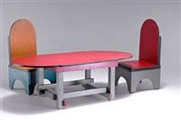 spielzeugtisch mit zwei stühlen by ko verzuu