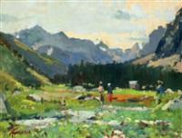 paesaggio alpino by dario treves