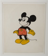 character study of mickey mouse by cy twombly