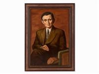 oil painting, male portrait,1950 by wilhelm lachnit
