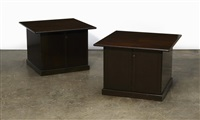 pair of coffee table/cabinets by paul mccobb