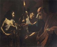 saint peter visiting saint agatha in prison by simon vouet