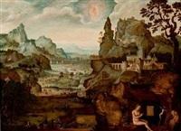 sainte madeleine dans un paysage by lucas gassel