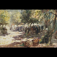 market morning. dole, brittany by thomas william morley