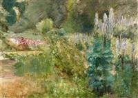 der staudengarten im wannseegarten nach nordwesten by max liebermann