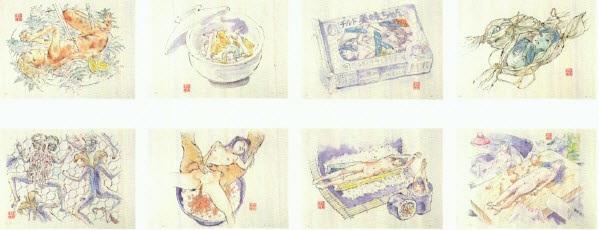edible artificial girls mimi chan (8 works) by makoto aida