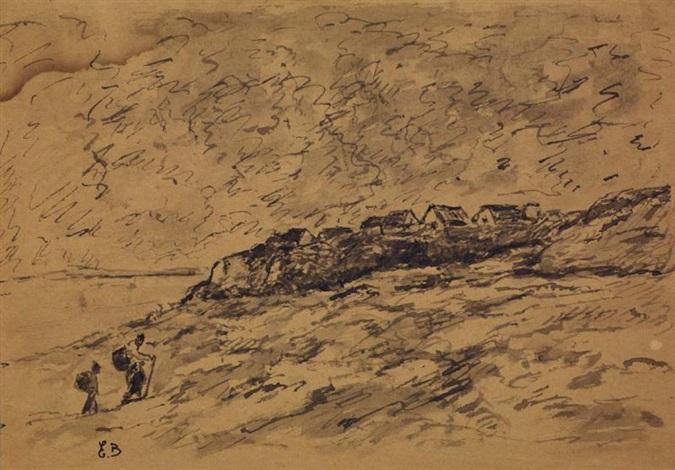 marcheurs sur la côte by eugène boudin