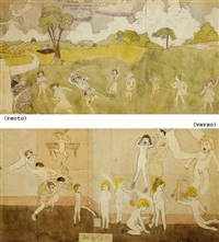 at sunbeam creek/at wickey sansia by henry darger