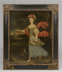 portrait d'anne marie louise d'orléans en diane by french school (17)