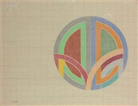 untitled (working drawing) by frank stella