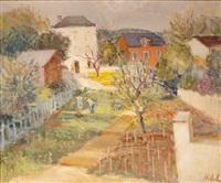 jardin à auvers sur oise, maison du dr. gachet by nebel