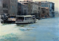 on the grand canal, venice by john postle heseltine