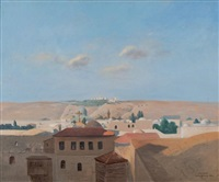 vue de jérusalem by louis billiard