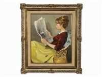 la lecture, after by marcel dyf