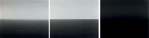 black sea ozuluce yellow sea cheju red sea safaga triptych by hiroshi sugimoto