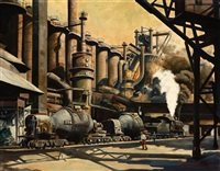 steam engine at a factory by hans zimmer