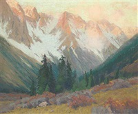 continental divide, sunrise by charles partridge adams