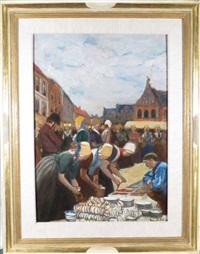 scène de marché by fernand piet